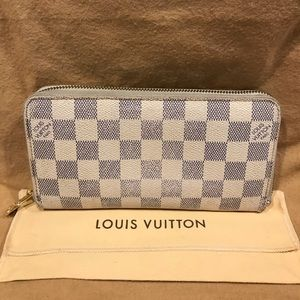 Louis Vuitton Damier Azur Zippered Wallet #9.2L
